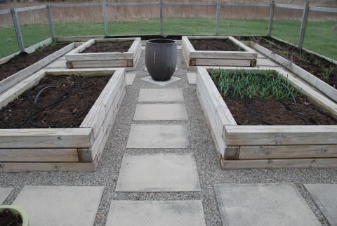 Raised beds are beautiful and easy to tend, by Great Lakes Landscape