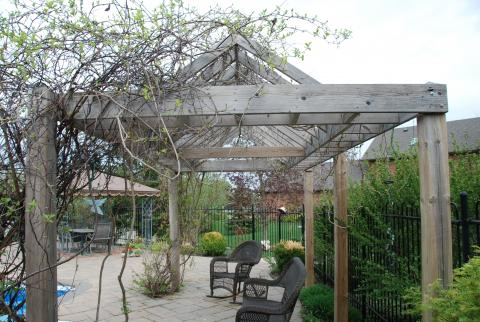 A beautiful pergola in Halton Hills, by Great Lakes Landscape